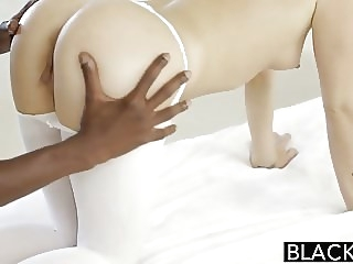 Homemade blonde blowjob
