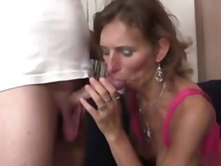 Homemade blowjob granny