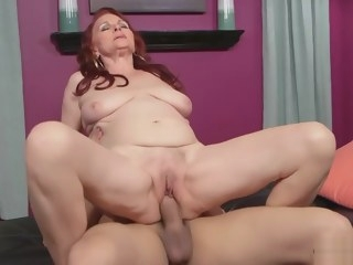 Homemade mature red head
