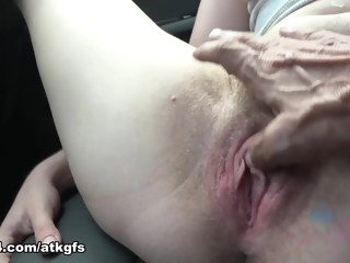 Homemade fingering hairy